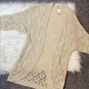 Macy's cut-out cardigan